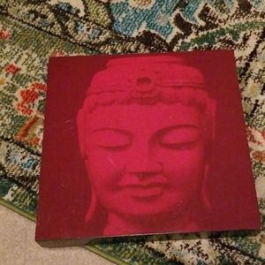 Wooden box red buddha art!!!